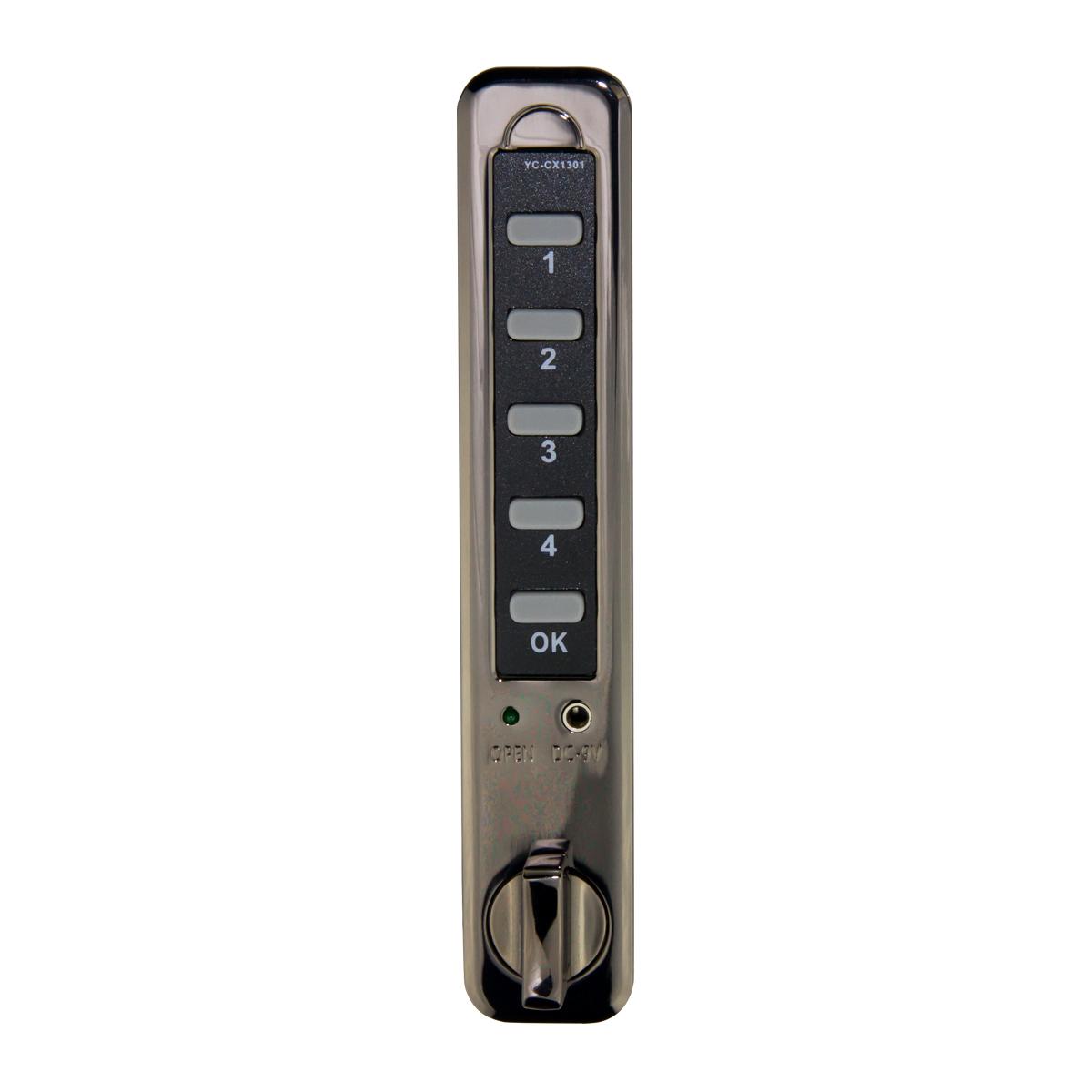 kcolefas electronic combination cabinet lock 30536, black chrome