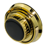 kcolefas u.l. top reading dial and ring 30132, bright brass