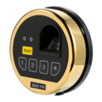 kcolefas electronic safe lock entry 30270 with fingerprint input, brass finish