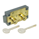 kcolefas r.h. brass finish safe deposit lock 30400 with key