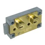 kcolefas l.h. brass finish safe deposit lock 30400
