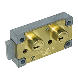 kcolefas l.h. brass finish safe deposit lock 30400