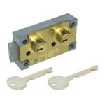 kcolefas l.h. brass finish safe deposit lock 30400 with key
