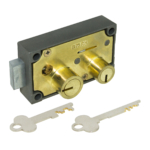 kcolefas r.h. brass finish safe deposit lock 30401 with key