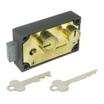 kcolefas l.h. brass finish safe deposit lock 30401 with key