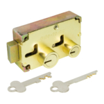 kcolefas r.h. brass finish safe deposit lock 30402 with key