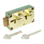 kcolefas l.h. brass finish safe deposit lock 30402 with key
