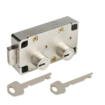 kcolefas right handed safe deposit lock 30403 nickel plated with key