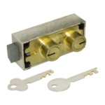 kcolefas brass finish safe deposit lock 30420 with key
