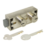 kcolefas nickel plated safe deposit lock 30420 with key