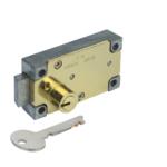 kcolefas r.h. brass finish safe deposit lock 30400 with key single nose
